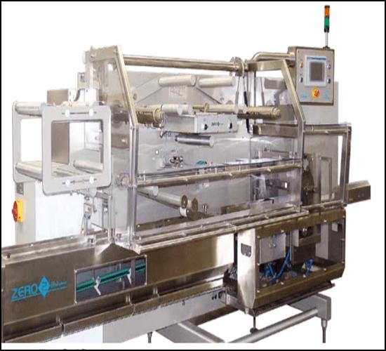 Maszyny pakujące składające się z linii pakującej zwanej Flowpack.